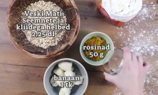 Tervislikud küpsised, mis annavad energiat!