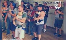 Vahva VIDEO: Millised mehed! Vaata, kuidas need isad oma beebidega tantsu keerutavad