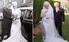 Imearmas! Kuldpulma tähistav paar kandis pulma-aastapäeval samu rõivaid, mida 50 aasta eest