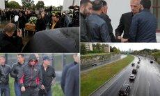 """DELFI FOTOD ja VIDEOD: Mõrvatud allilmaliider Nikolai """"Kolja"""" Tarankov saadeti Lasnamäel viimsele teekonnale"""