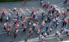 SEB 10km jooks Viru Väljakul katuselt