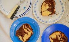 Mahlane šokolaadi-vanilli marmorkook