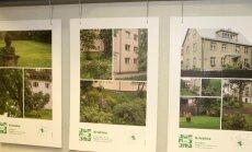 Tallinna korterelamute kaunid õued pandi näitusele