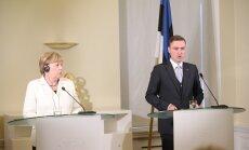Rõivas tegi Merkeli kõrval nalja Putini ja Anton Vaino suunas