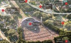 DELFI INTERAKTIIVNE GRAAFIK: Detailplaneeringu järgi ehitataks lauluväljakule autotee ja pandaks koorilauljate asemele laulukaare ette seisma purskkaev