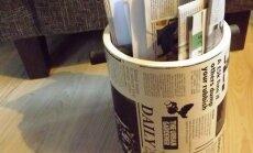 Kujundage ajalehehoidik interjööriga harmoneeruvalt.