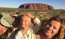 Tuuli Roosma ja Arbo Tammiksaar poegadega Austraalias