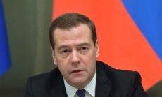 Venemaa peaminister Dmitri Medvedev täna selle aasta viimasel valitsuskabineti nõupidamisel.