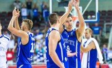 Eesti korvpallikoondis pärast võitu Ukraina üle