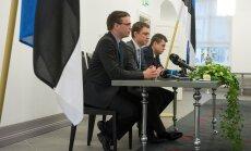 Eilsel pressikonverentsil rääkisid Sven Mikser (SDE), Taavi Rõivas (RE) ja Urmas Reinsalu (IRL) haldusreformist.