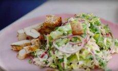 KIIRE HOMMIKUSÖÖGI SOOVITUS: Mõnus Jamie Oliver'i stiilis Cesari salat