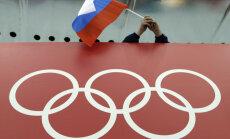 Venemaa spordifänn koos lipuga Londoni olümpial