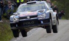 Sebastien Ogier kihutamas Soome rallil