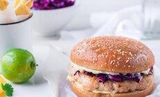 Sügisene retseptisoovitus | Aasiapärase vimkaga kanaburger punase kapsa salatiga