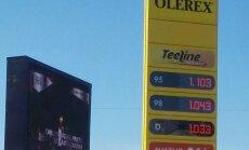 FOTO: Bensiini 95 hind läks Olerexi tanklas 98-st kõrgemaks