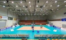 Eesti võrkpallikoondis Jelgavas treeningul
