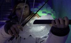 Pildid ja video: vaata, kuidas Põhja-Rootsis jääst pillidega muusikat tehakse