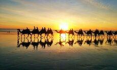 Päikeseloojang kaamlitega