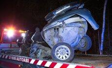 Vehendis avarii teinud auto sündmuskohalt äravedu