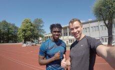 Fedrick Dacres ja Hans Üürike eelmisel suvel Kadrioru varustaadionil treeningul