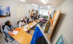 Pagulased Vao külas eesti keele tunnis