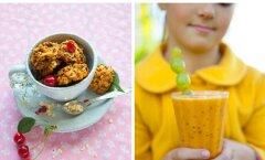 Retseptid: tervislikud ja lihtsad vahepalad lastele — kaerahelbeküpsised pähklivõiga ja astelpajusmuuti