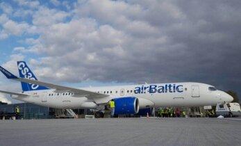AirBaltic протестирует новый самолет CS300 на маршрутах из Риги в Вильнюс и Таллинн
