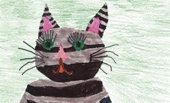 Laste joonistused: kassi viis palet