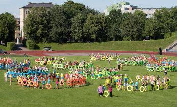 Suur võimlemispidu tulekul: ühisproovideks saabus Tallinna tuhandeid noori võimlejaid