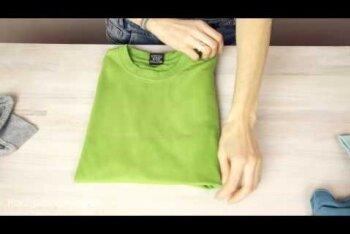 VIDEO: 3 kõige nutikamat võimalust T-särgi voltimiseks