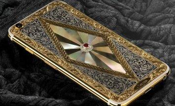 """Soome firma Legend tellimusel graveeritud iPhone, mis jõudis veebruari lõpus Katari messile """"Doha Jewellery & Watches Exhibition 2016""""."""