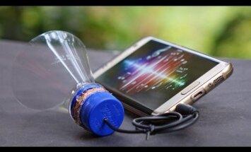 VIDEO: Vaata, kuidas valmistada plastikpudelist kaasaskantav nutitelefoni kõlar