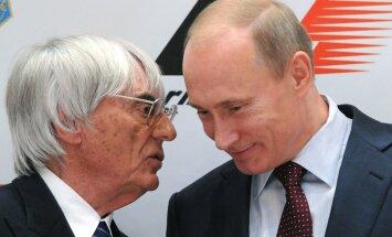 Bernie Ecclestone ja Vladimir Putin