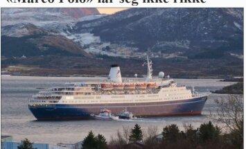 FOTOD SÜNDMUSKOHALT: Norra saarestikus sõitis madalikule kruiisilaev, pardal tuhat inimest