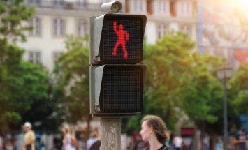 Танцующий светофор или Как не переходить дорогу на красный свет (ВИДЕО)