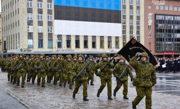 Eesti Vabariik 98. Kaitsejõudude paraad Vabaduse väljakul.