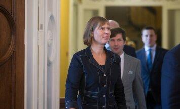 Presidendikandidaat Kersti Kaljulai. Kohtumine fraktsioonidega riigikogus