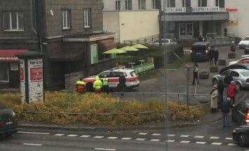 Haamriga mees Tallinna kesklinnas