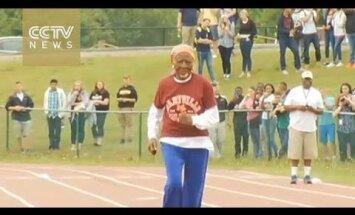 ВИДЕО: 100-летняя пенсионерка установила мировой рекорд в беге на 100 метров
