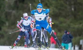 Kristjan Ilves veab kahevõistlejate rivi kontinentaalkarikasarja etapil Otepääl.