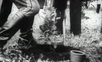 VANAD KAADRID: Berliini olümpiamängude medalitesaju tähistamine 1936. aastal Kadriorus