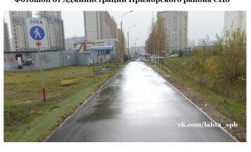 Kõnniteede parandamine Peterburis: reaalse töö asemel pilditöötlus