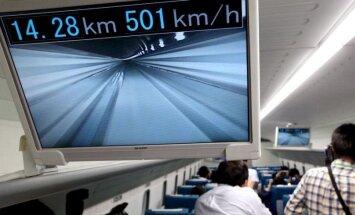 Kiiruseks üle 500 km/h: Jaapan ehitab 286-kilomeetrise maglev-raudtee