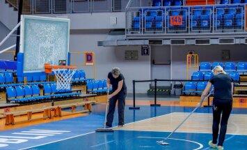 Eesti korvpallikoondis Lublinis 2 treening