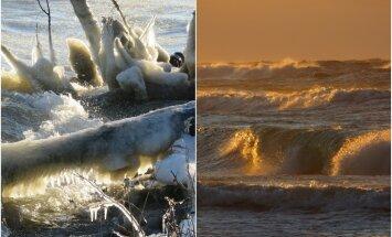 Зимняя сказка на Куршской косе: холод создал совершенный пейзаж