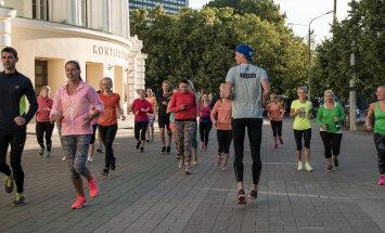 NRC varahommikune treening Rahvusooper Estonia ees