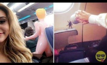 Haige GALERII | Inimesed jagavad pilte kõige veidramatest asjadest, mida nad lennukites on näinud