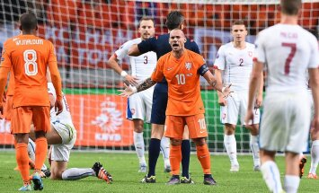 Wesley Sneijder (Holland) mängus Tšehhiga