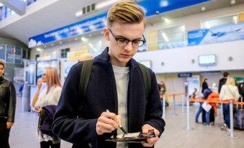 Jüri Pootsmann lennujaamas