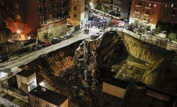 В центре Рима ушла под землю часть улицы